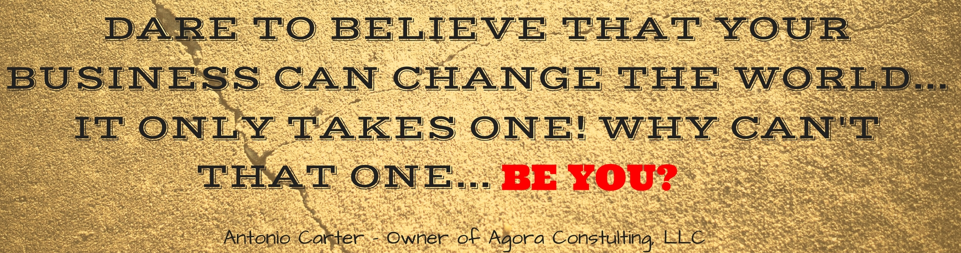 DARE TO BELIEVE THAT YOUR BUSINESS CAN CHANGE THE WORLD...(3)