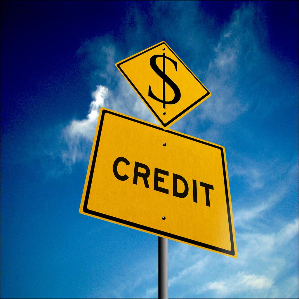 credit sign