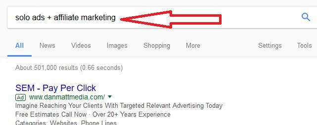 solo ad google search
