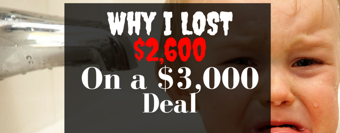 Why I lost 2600