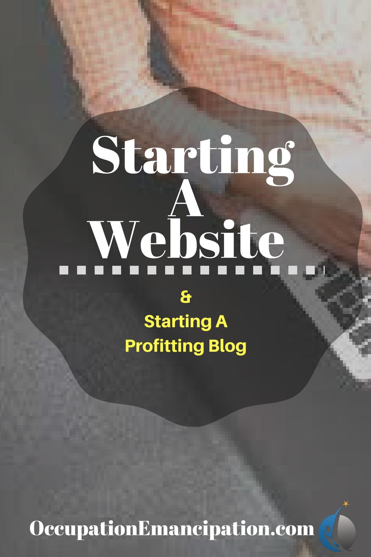starting a website pinterest