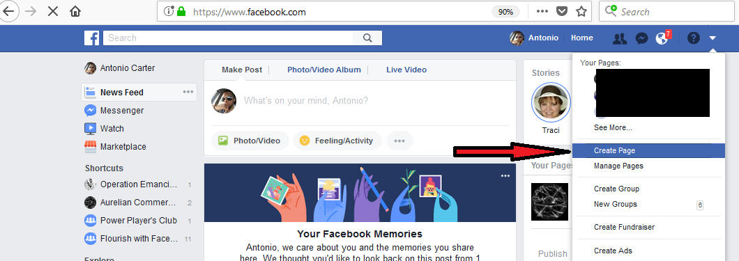 how to setup the facebook pixel 2018 - create business page